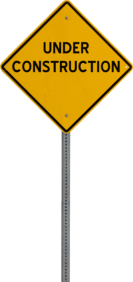construction caution sign